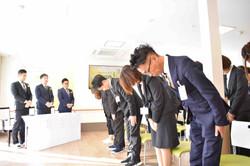 ナーシングホーム寿々あま大治入社式