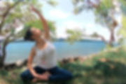Lina Sarmiento Yogainstructor based on New York by the river
