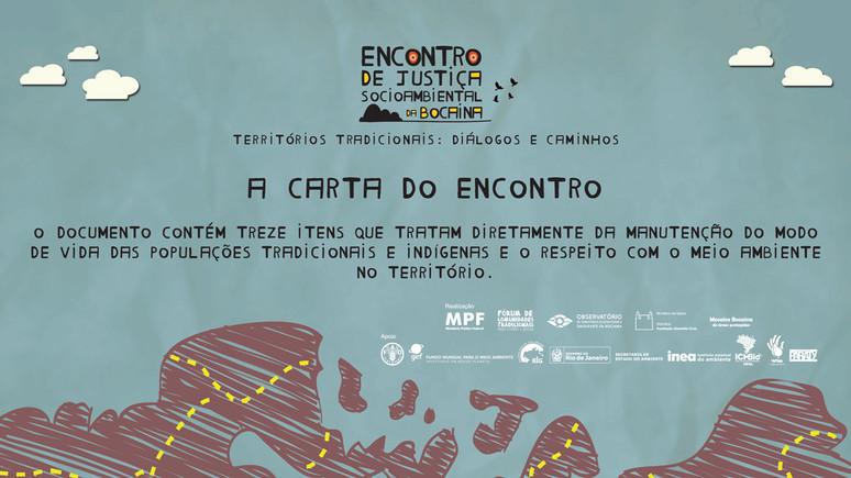 """A Carta do """"Encontro de Justiça Socioambiental da Bocaina - Territórios Tradicionais: Diálogos"""