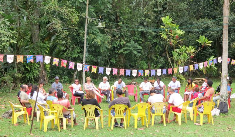 Mais de 70 Indígenas, Quilombolas e Caiçaras participaram da reunião ampliada do FCT em São Gonçalo,