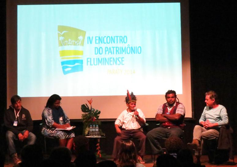 O Fórum de Comunidades Tradicionais participou do IV Encontro Fluminense de Patrimônio em Paraty com