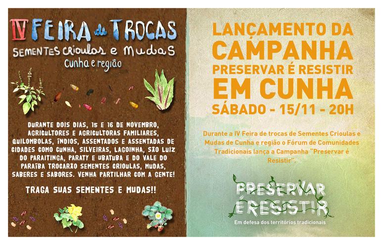"""Campanha """"Preservar é Resistir"""" será lançada em Cunha durante Feira de Sementes Crioulas"""
