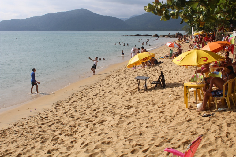 Praia do Lanço, na vila de Picinguaba