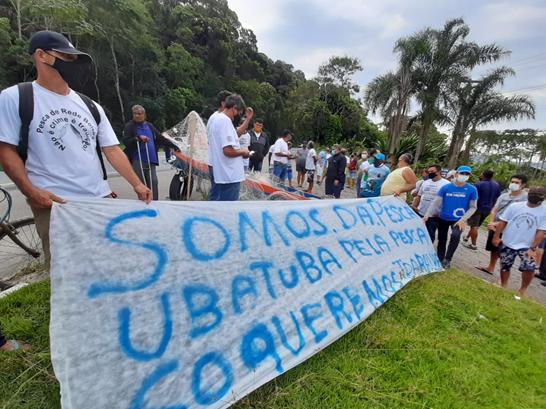 Manifestação pela Pesca Artesanal Mobiliza Litoral de São Paulo