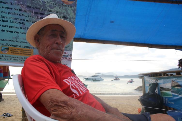 """Seu Pu, """"O pescador mais velho de picinguaba"""""""