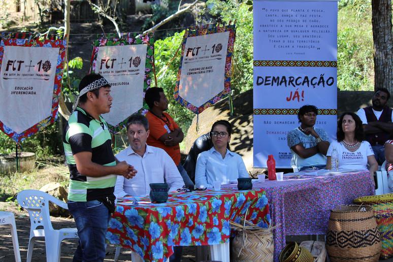 """Terceiro dia do """"II Encontro de Justiça Socioambiental da Bocaina – Direitos Indígenas"""" teve como te"""