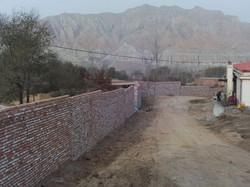 New wall built winter 2014