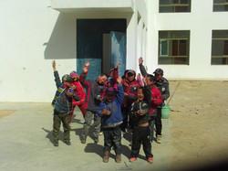 Hello from Tibetan boys