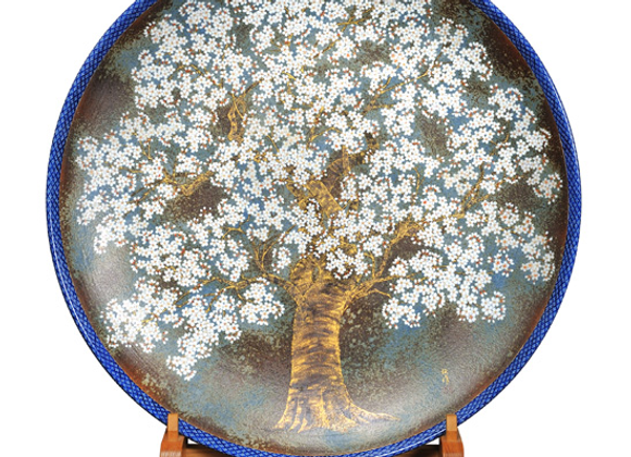 平成鍋島 桜 大皿