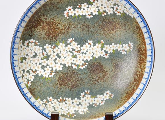 平成鍋島 地紋桜 尺二寸皿