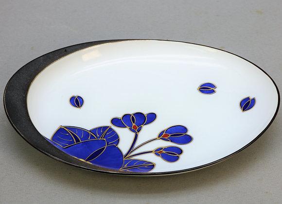 藍桜 楕円皿