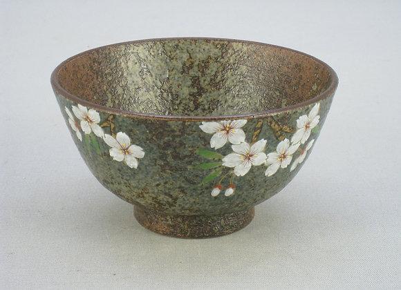 窯変 桜 飯碗