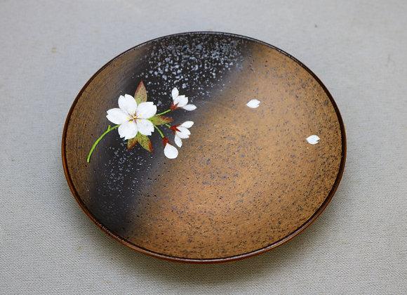 焼きしめ桜絵 銘々皿