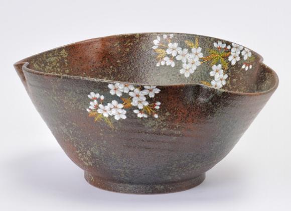 窯変 桜 木甲鉢
