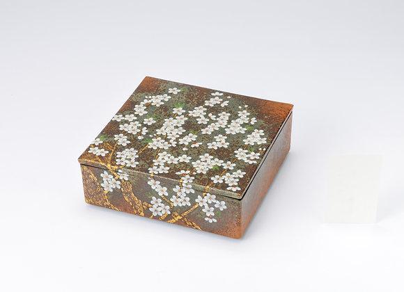 窯変 桜 陶箱