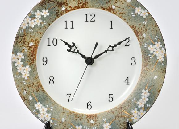 合せ窯変 桜 皿時計