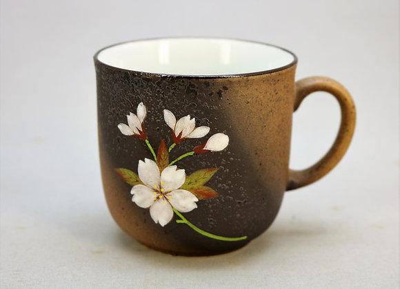 焼きしめ桜絵 マグカップ