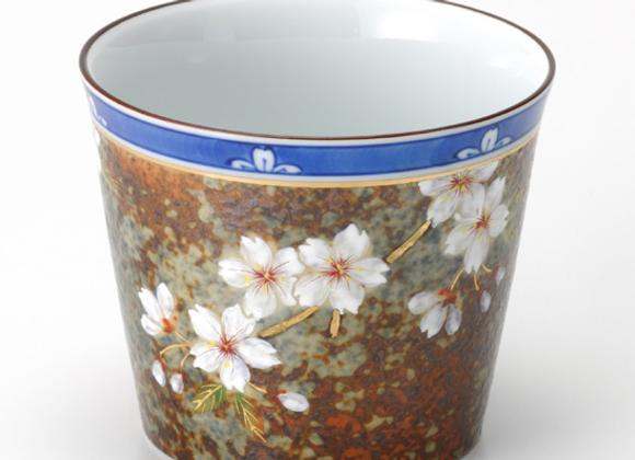 平成鍋島 桜 コップ(ソバチョコ型)