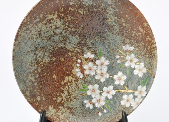 窯変 桜 六寸皿