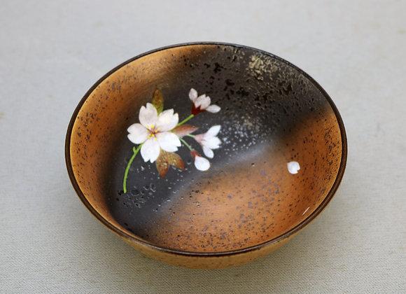 焼きしめ桜絵 小鉢