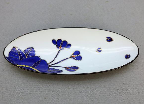 藍桜 楕円細皿