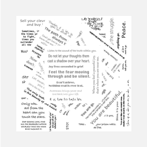 Soul Messages on Tissue Paper