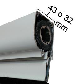 Cajon mosquitera enrollable 43 o 32 mm