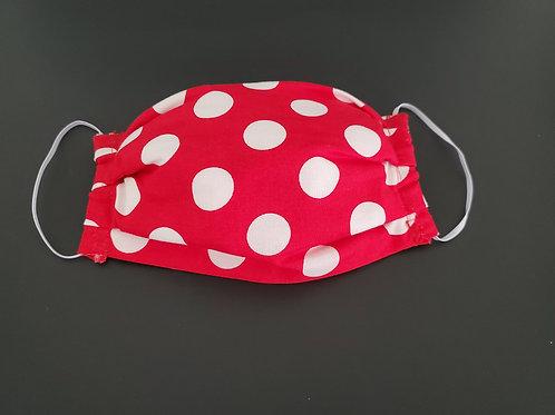 Red White Polka Dot Face Mask