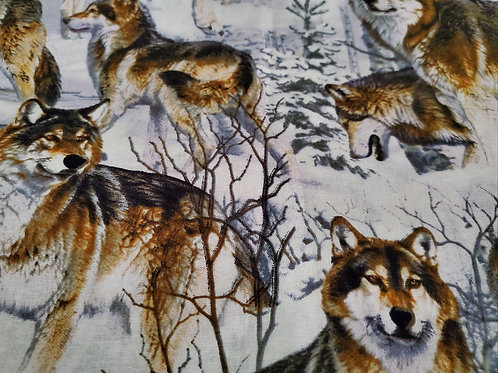 FABRIC MASK CHOICE - WOLVES