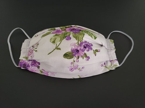 Lilac Floral Face Mask
