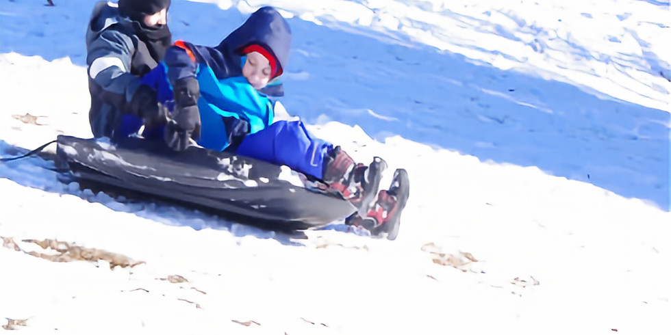 Family Outting Sledding Day