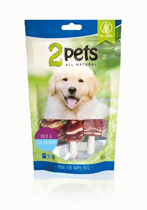 2pets Duck & Fish lollipop, 100g