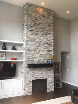 Before -  Full Fireplace
