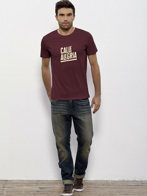 T-shirt Homme bordeaux