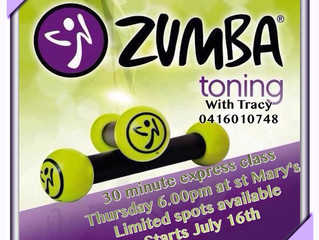 ZUMBA TONING CLASS RETURNING
