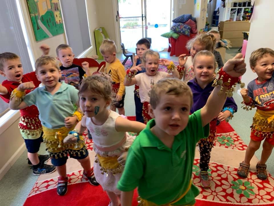 Yeoval Pre-School with our Bell Scarves!!!