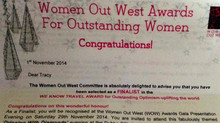 FINALIST for a Women out west Award