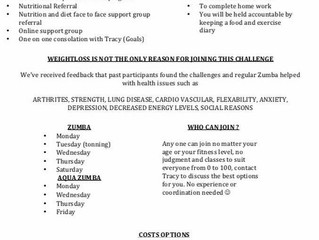 January Weight Loss Challenge 2017
