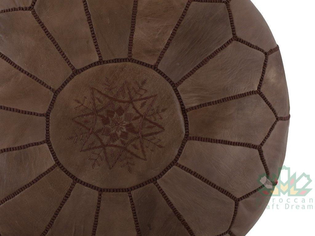 Sensational Stuffed Unstuffed Pouf Ottoman Brown Rp5Br Short Links Chair Design For Home Short Linksinfo