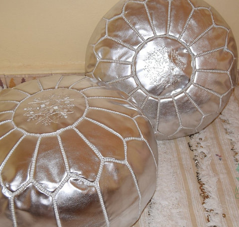 Super Stuffed Unstuffed Pouf Ottoman Silver Rp1Sl Short Links Chair Design For Home Short Linksinfo