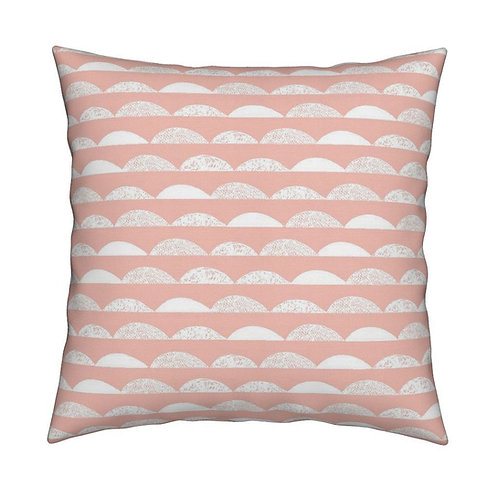Coussin collines rose