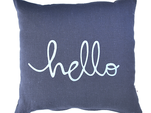 Blue gray linen cushion cover