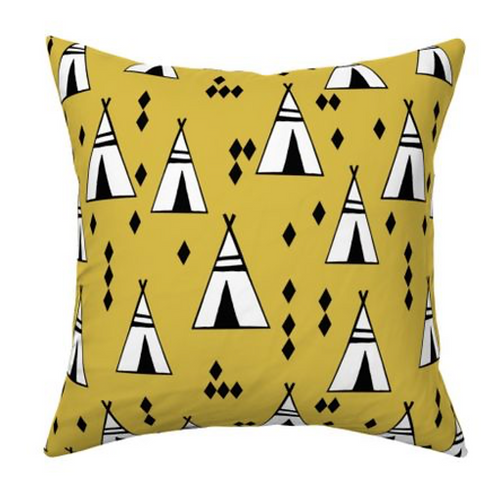 Coussin tipis moutarde