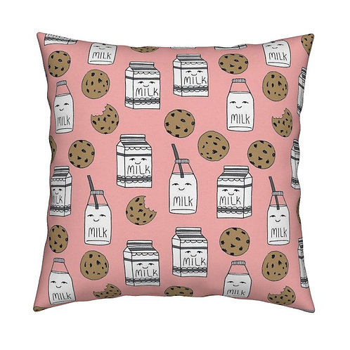 Milk & cookie pink cushion