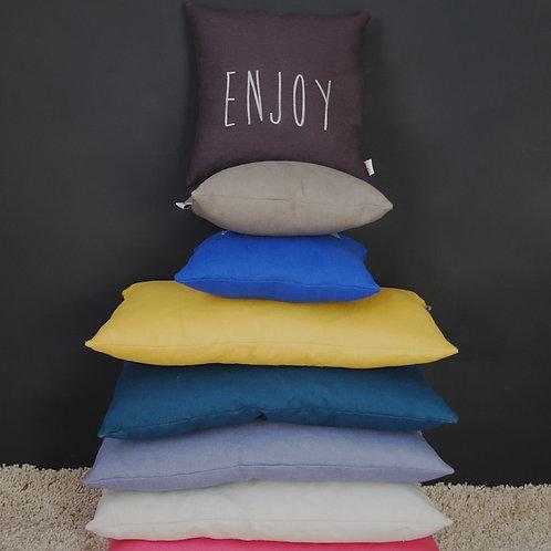 Small silkscreen linen cushion