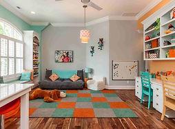 Teal-And-Grey-Kids-Bedroom-blue-kids-bed