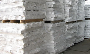 Foam stacked on pallets
