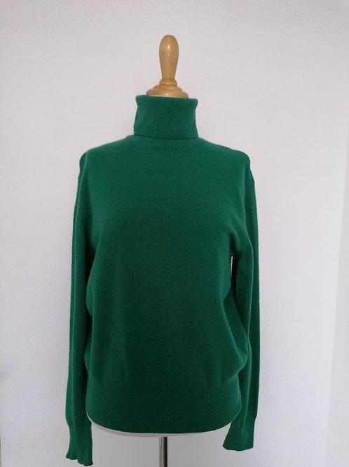 Col roulé vert sapin Benetton