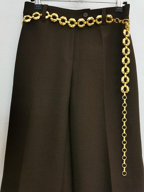 Pantalon flare marron