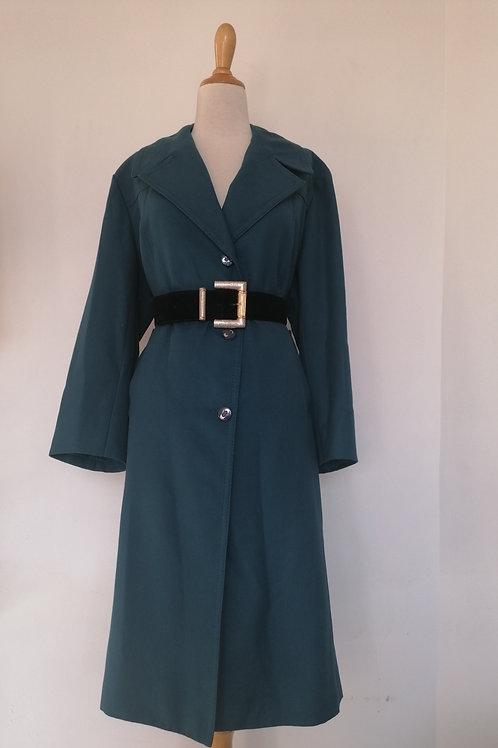 Trench coat bleu pétrole